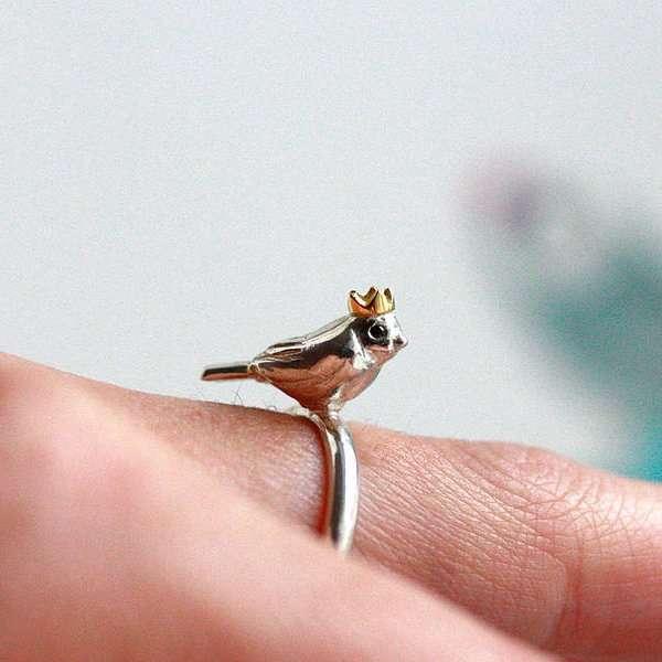 Delicate Avian Rings