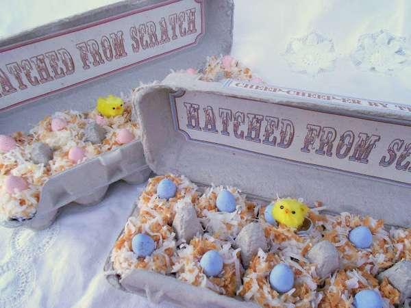 Egg Carton Cakes
