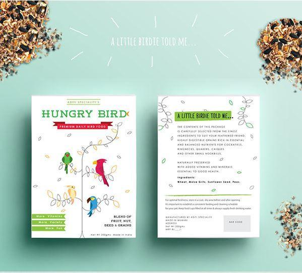 Graphic Bird Seed Branding