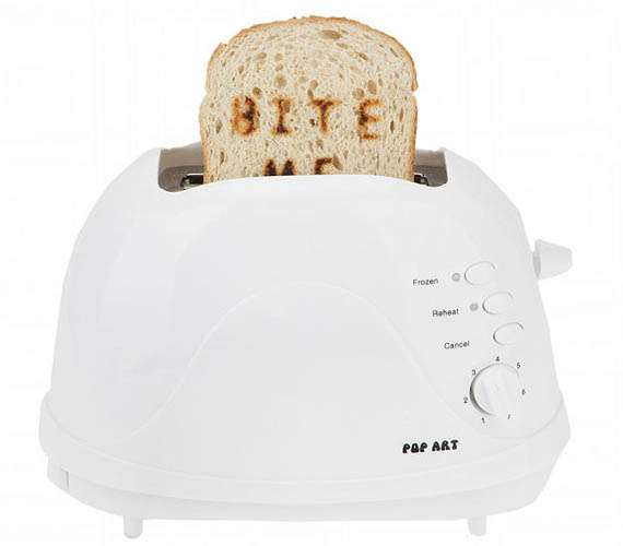 Bite Me Pop Art Toaster