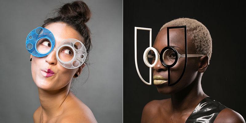 Printed Surrealist Eyewear
