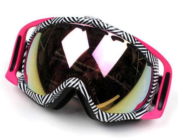 Coral Chevron Goggles