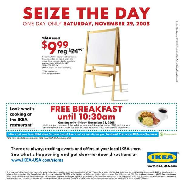 Free Breakfasts to Entice Shoppers