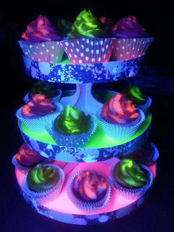 black light cupcakes