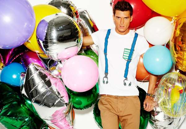 Balloon-Toting Menswear