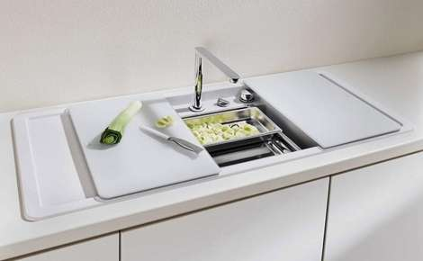 Enclosed Kitchen Basins