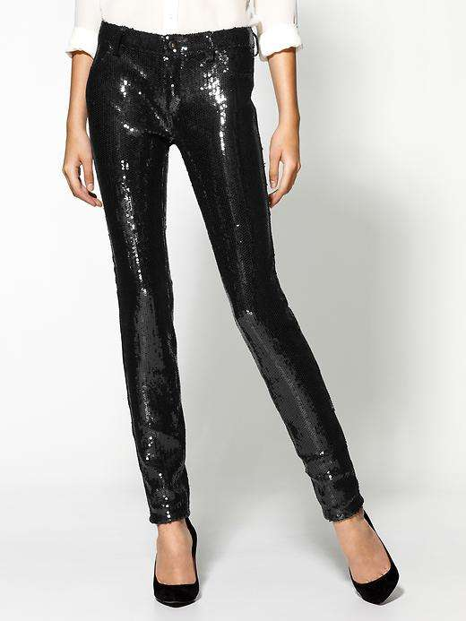 Sequin-Saturated Cigarette Pants