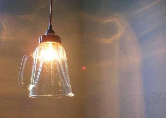 Upcycled Kitchenware Lights