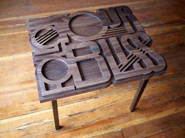 Ecstatic Typography Furniture