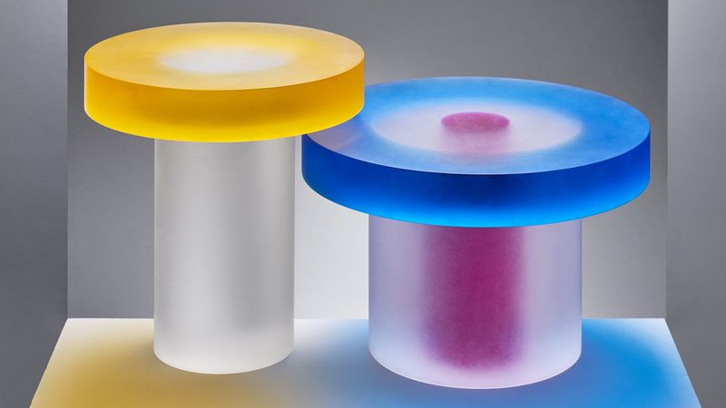 Colored Resin Tables Blocks Tables