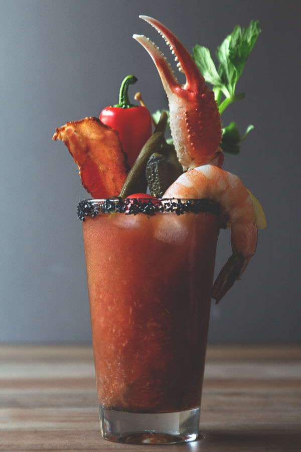 Seafood Cocktail Garnishes : bloody mary