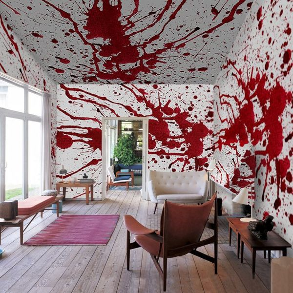 blood spattered wall decor bloody wall mural