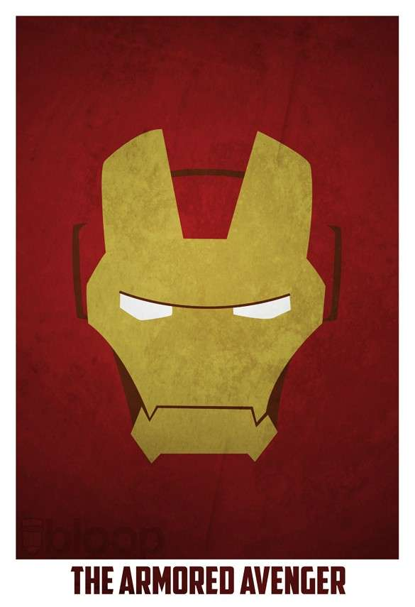 Simplistic Superhero Drawings