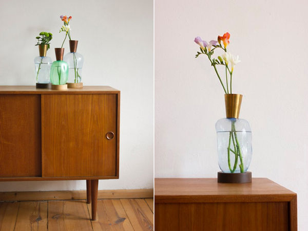 Homemade Glass-Blown Vases