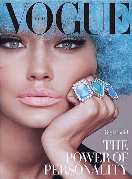 Blue Haired Celebrity Covers