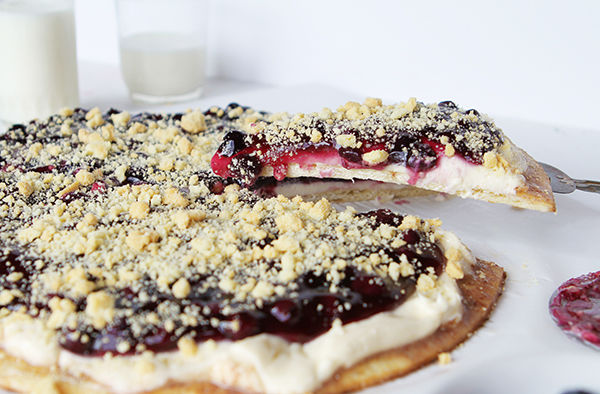 Blueberry Dessert Pizzas
