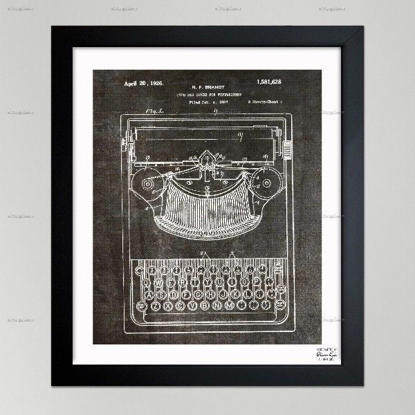 Iconic Object Blueprint Art