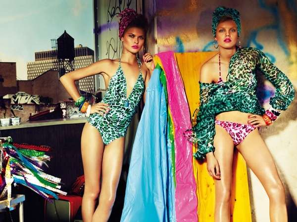 Color-Exploding Swimsuits