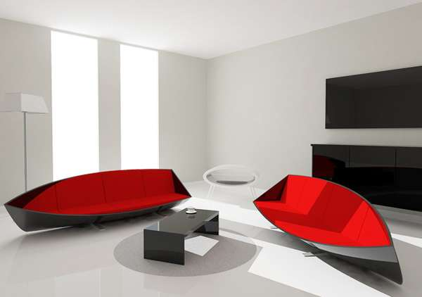 Sleek Canoe Couches