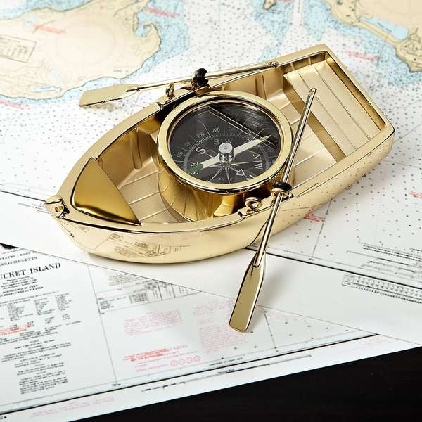 Boat-Shaped Compasses