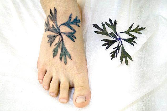 Botanical Stencil Tattoos