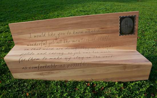Inscribed Outdoor Seating