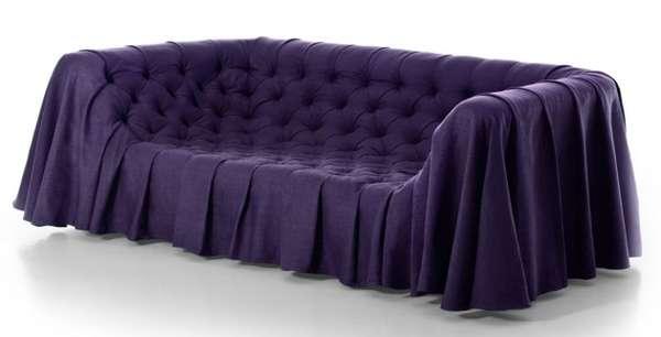 Draping Dressed Seating Bohemian Sofa