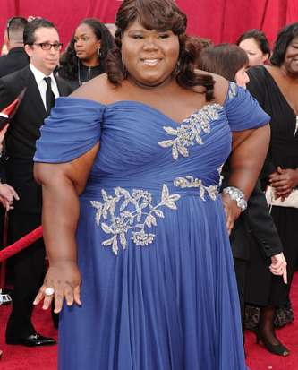 Gabourey Sidibe Oscar dress