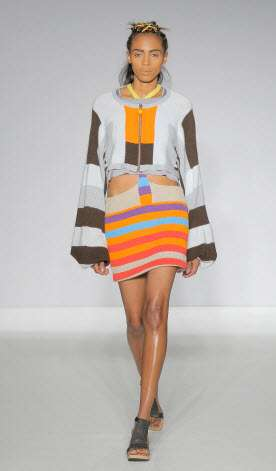 Bold Color Blocked Knitwear