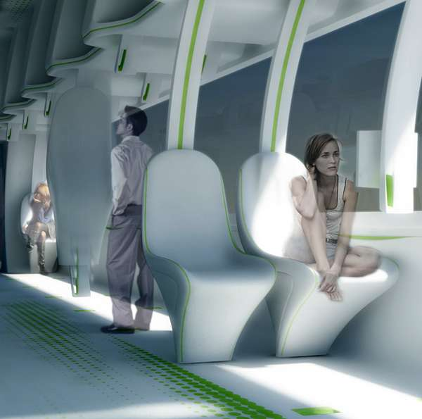 Moldable Train Seating