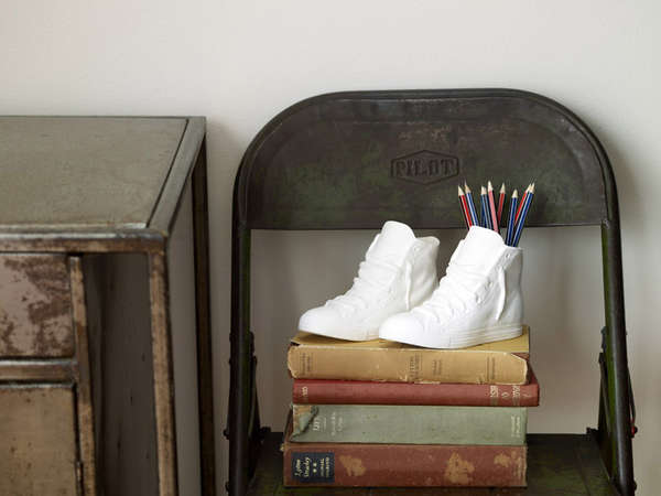 Deceptive Porcelain Shoe Decor