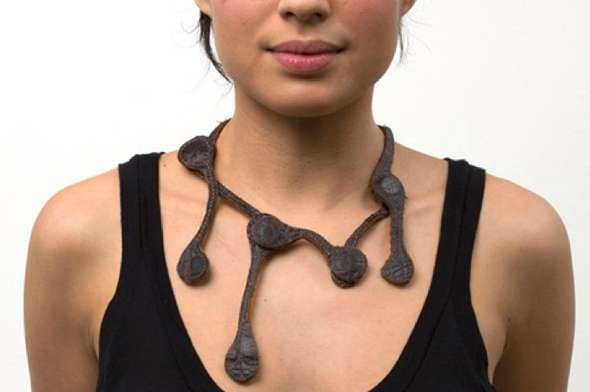 Bone Structures Leather Necklace