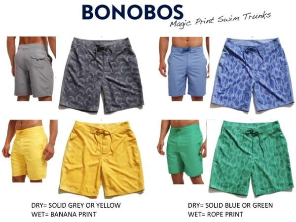 Bonobos Magic Print Swim Trunks