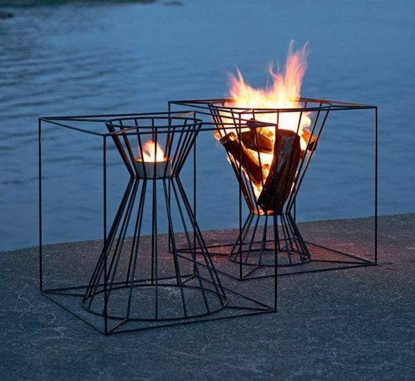 Chic Wireframe Fireplaces