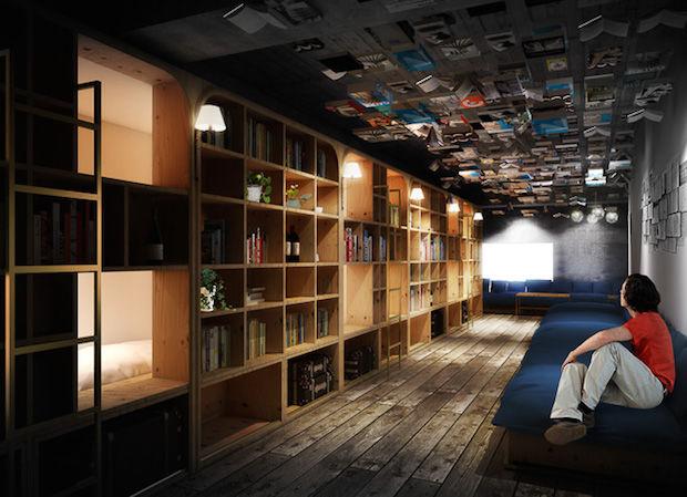 Hybrid Bookstore Hotels