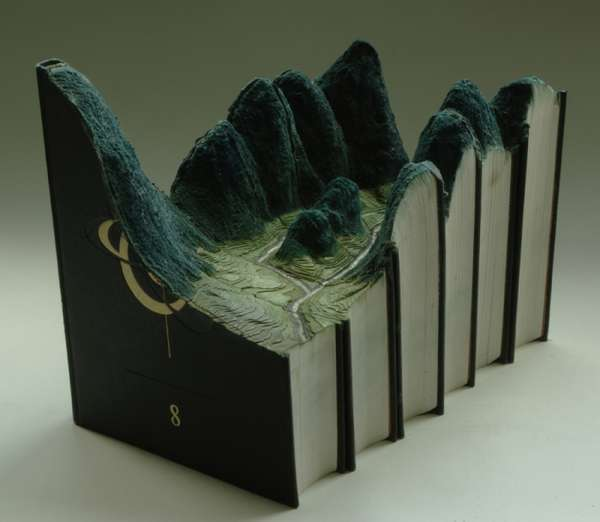 Carved Literature Sculptures