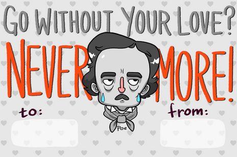 Literary Valentine's Cards
