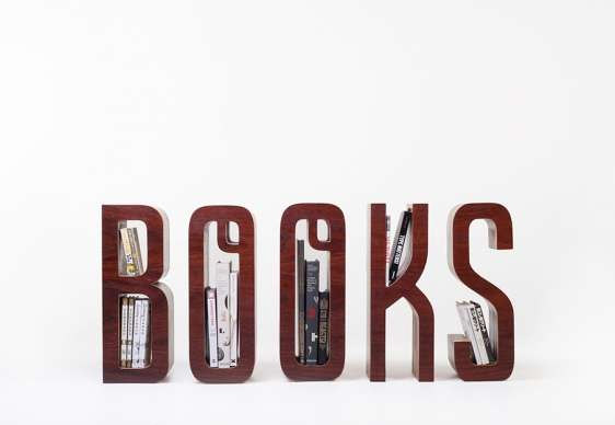 Literal Typography Shelving
