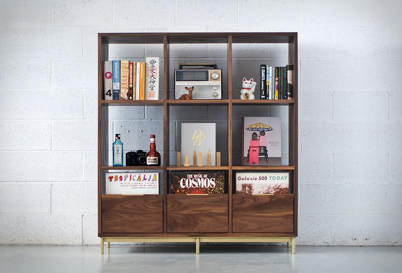 vintage medium bookshelves bookshelf unit. Black Bedroom Furniture Sets. Home Design Ideas