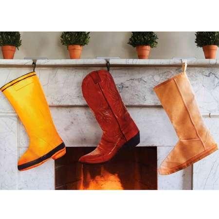 Festive Faux Footwear