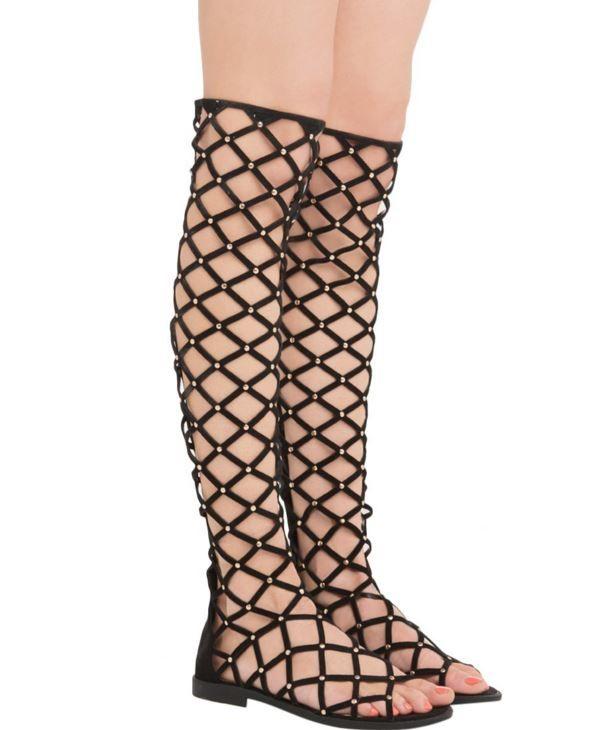 Laser-Cut Boot Sandals