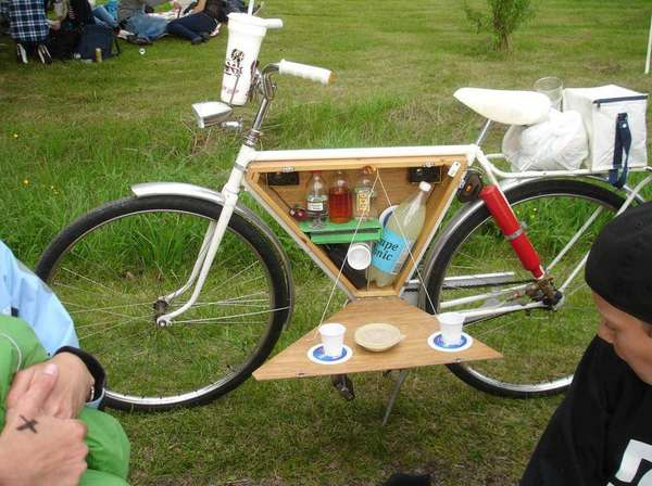 Built In Bike Cabinets Booze Carrying Bike Accessory