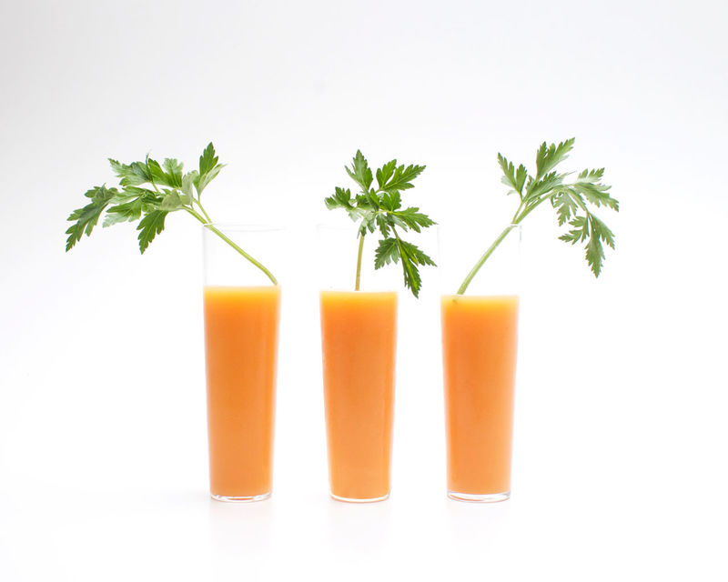 Booze-Infused Carrot Elixirs