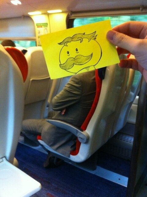 bored on a train