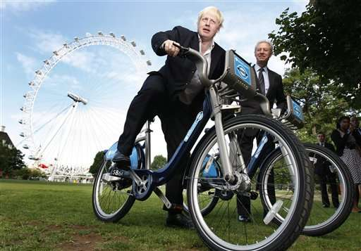 Boris Johnson Launches a Bike Rental