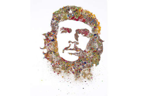 Crushed Paint Political Portraits