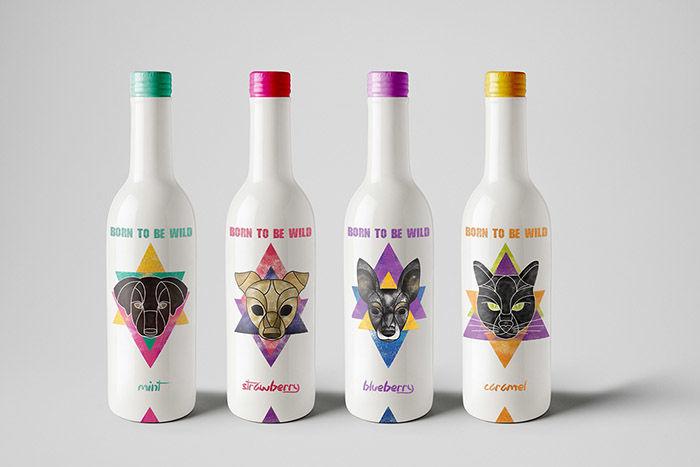 Geometric Drink Logos