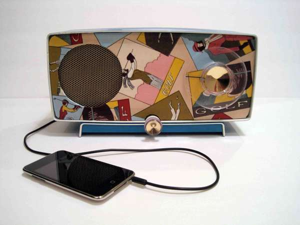Boss Radios Vintage iPod Speakers