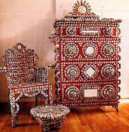 Furniture from Bottle Caps