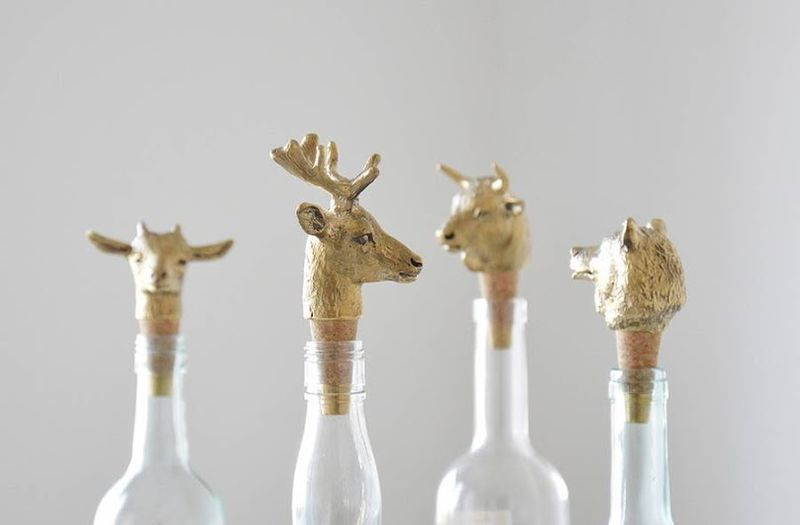 Metallic Animal Head Corks